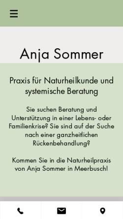 Vorschau der mobilen Webseite www.praxis-anjakunz.de, Kunz, Anja