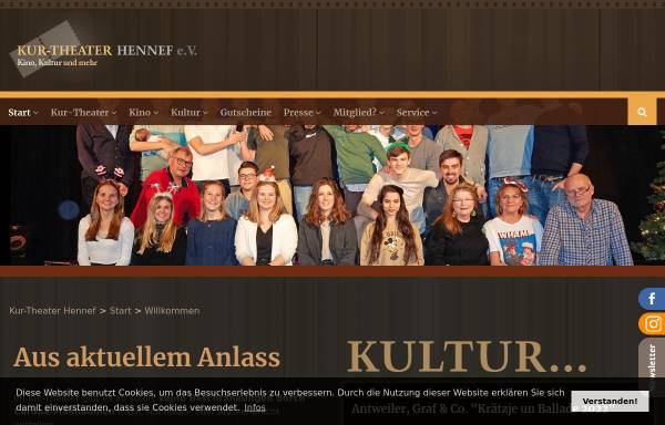 Vorschau von www.kurtheaterhennef.de, Kur-Theater Hennef e.V.