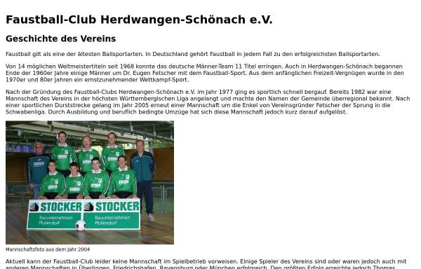 Vorschau von www.faustball-club.de, Faustball Club Herdwangen-Schönach 1977 e.V.