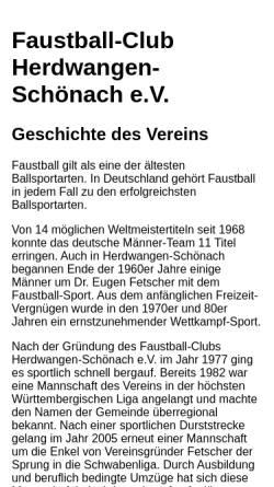 Vorschau der mobilen Webseite www.faustball-club.de, Faustball Club Herdwangen-Schönach 1977 e.V.