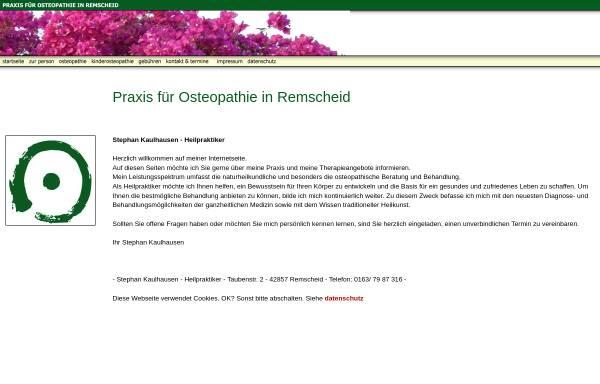 Vorschau von www.praxis-kaulhausen.de, Praxis für Osteopathie Stephan Kaulhausen