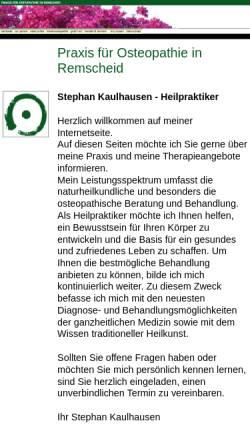 Vorschau der mobilen Webseite www.praxis-kaulhausen.de, Praxis für Osteopathie Stephan Kaulhausen