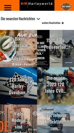 Vorschau der mobilen Webseite www.harley-world.de, K&M Harley World