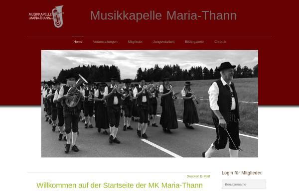 Vorschau von www.mk-maria-thann.de, Musikkapelle Maria-Thann e.V.