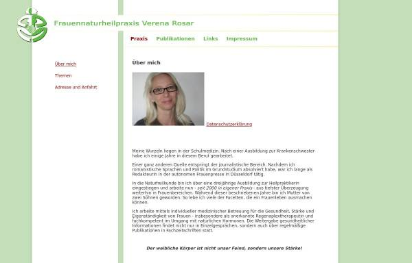Vorschau von www.frauennaturheilkunde.de, Rosar, Verena