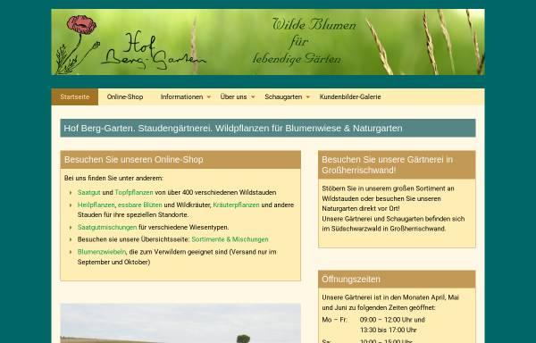 Vorschau von www.hof-berggarten.de, Hof Berg-Garten