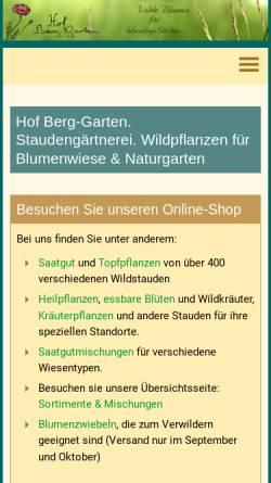Vorschau der mobilen Webseite www.hof-berggarten.de, Hof Berg-Garten
