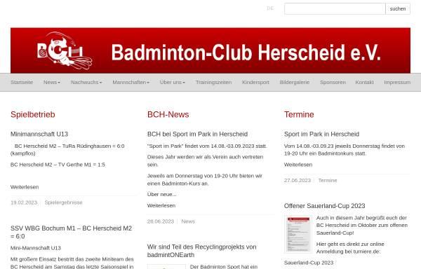 Vorschau von www.bc-herscheid.de, Badminton-Club Herscheid e.V.