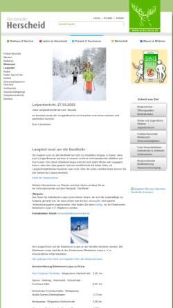Vorschau der mobilen Webseite ebbekammloipe.de, Herscheid