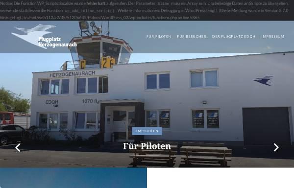 Vorschau von www.flugplatz-herzogenaurach.de, Flugplatz Herzogenaurach GmbH
