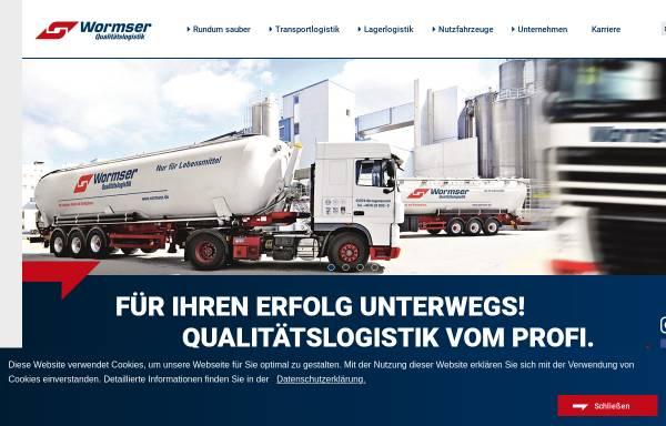 Vorschau von www.wormser.de, Spedition Wormser
