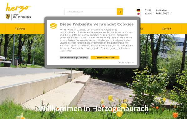 Vorschau von www.herzogenaurach.de, Stadt Herzogenaurach