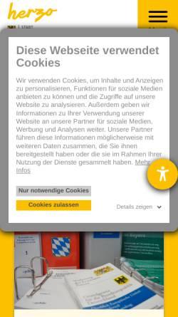 Vorschau der mobilen Webseite www.herzogenaurach.de, Stadt Herzogenaurach