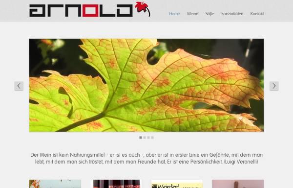 Vorschau von www.weingut-arnold-klingen.de, Weingut Arnold