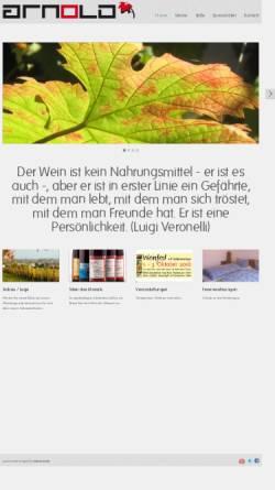 Vorschau der mobilen Webseite www.weingut-arnold-klingen.de, Weingut Arnold