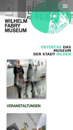 Vorschau der mobilen Webseite www.wilhelm-fabry-museum.de, Wilhelm-Fabry-Museum