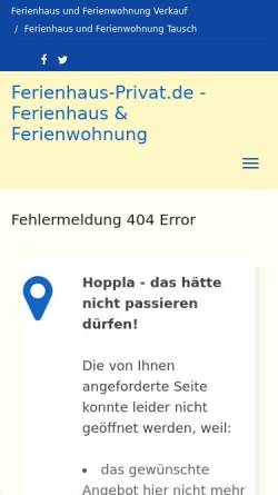 Vorschau der mobilen Webseite www.ferienhaus-privat.de, Ferienwohnung Haus Cilli