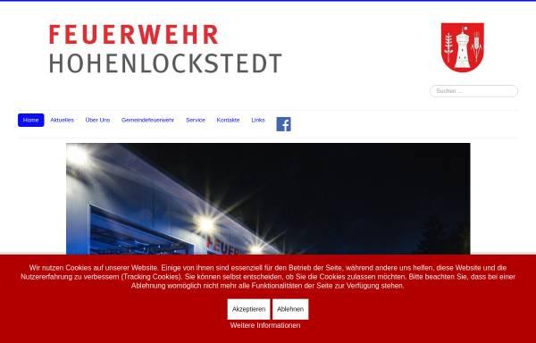 Vorschau von www.feuerwehr-hohenlockstedt.de, Freiwillige Feuerwehr Hohenlockstedt