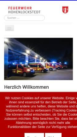 Vorschau der mobilen Webseite www.feuerwehr-hohenlockstedt.de, Freiwillige Feuerwehr Hohenlockstedt