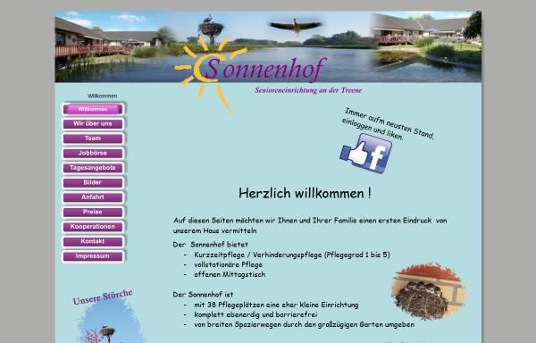 Vorschau von www.sonnenhof-hollingstedt.de, Seniorenheim und Pflegeheim Moltzen