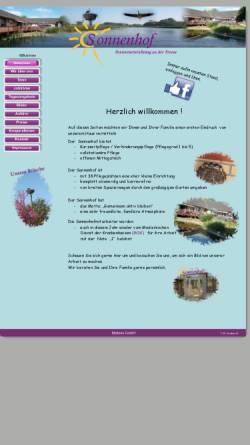 Vorschau der mobilen Webseite www.sonnenhof-hollingstedt.de, Seniorenheim und Pflegeheim Moltzen