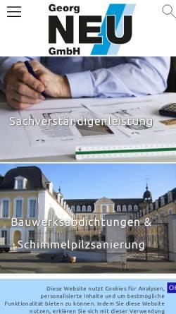 Vorschau der mobilen Webseite www.bau-neu.de, Bauunternehmen Neu GmbH