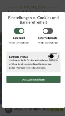 Vorschau der mobilen Webseite www.homberg.de, Homberg, Ohm