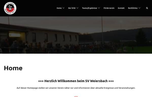 Vorschau von www.sv-weiersbach.de, Sportverein Weiersbach 1949 e.V.