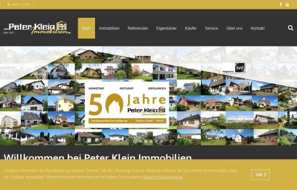 Vorschau von www.peterkleinimmobilien.de, Peter Klein Immobilien GmbH
