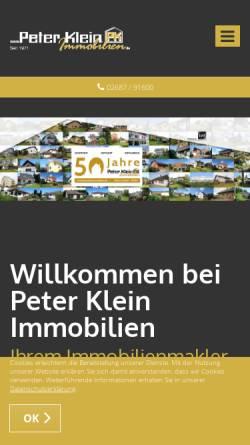 Vorschau der mobilen Webseite www.peterkleinimmobilien.de, Peter Klein Immobilien GmbH