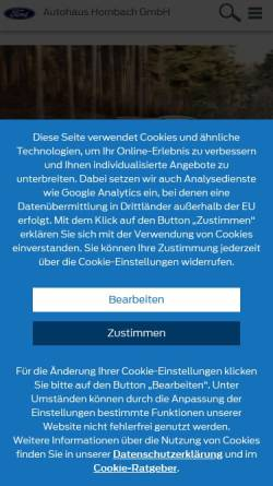 Vorschau der mobilen Webseite www.wagner-hornbach.de, Autohaus Wagner GmbH