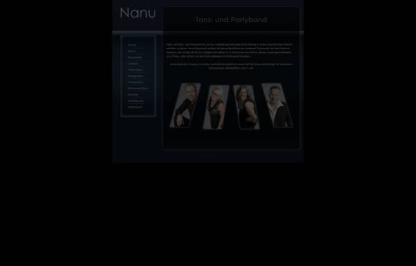 Vorschau von www.nanu-tanzmusik.de, NANU Tanz- und Partyband