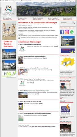 Vorschau der mobilen Webseite www.hueckeswagen.de, Hückeswagen