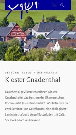 Vorschau der mobilen Webseite www.jesus-bruderschaft.de, Jesus-Bruderschaft Gnadenthal
