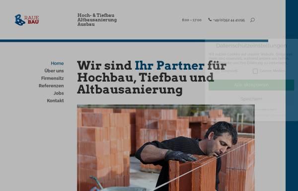 Vorschau von raue-bau.de, Raue Bauunternehmung GmbH