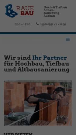 Vorschau der mobilen Webseite raue-bau.de, Raue Bauunternehmung GmbH