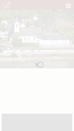 Vorschau der mobilen Webseite www.wallfahrtskloster-bornhofen.de, Franziskaner- und Wallfahrtskloster Bornhofen
