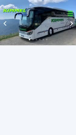 Vorschau der mobilen Webseite www.kimmel-reisen.de, Kimmel-Reisen