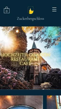 Vorschau der mobilen Webseite www.zuckerbergschloss.de, Zuckerbergschloß