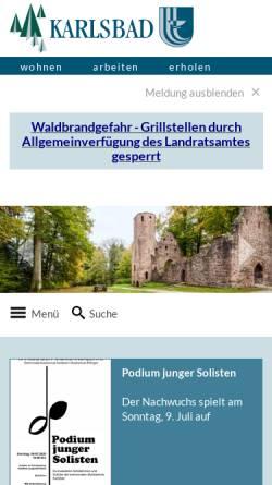 Vorschau der mobilen Webseite www.karlsbad.de, Gemeinde Karlsbad