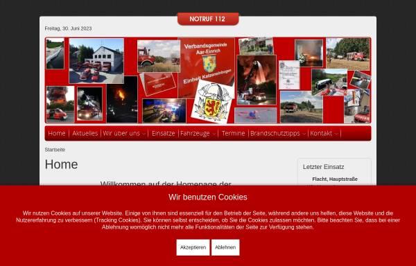 Vorschau von www.feuerwehr-katzenelnbogen.de, Freiwillige Feuerwehr Katzenelnbogen