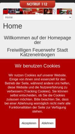 Vorschau der mobilen Webseite www.feuerwehr-katzenelnbogen.de, Freiwillige Feuerwehr Katzenelnbogen