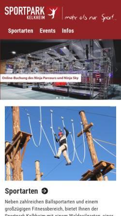 Vorschau der mobilen Webseite www.sportpark-kelkheim.de, Sportpark Kelkheim - HydePark Gbr