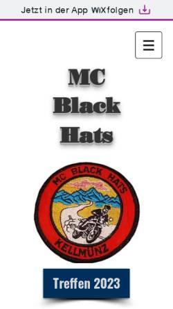 Vorschau der mobilen Webseite www.mc-black-hats.de, MC Black Hats Kellmünz e. V.