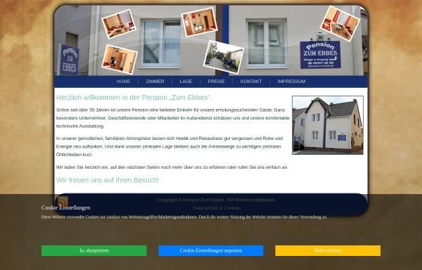 Vorschau von www.zum-ebbes.de, Pension Zum Ebbes