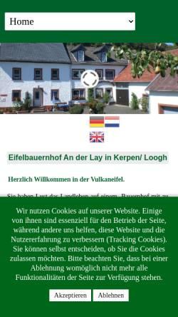 Vorschau der mobilen Webseite www.ferien-an-der-lay.de, Bauernhof an der Lay