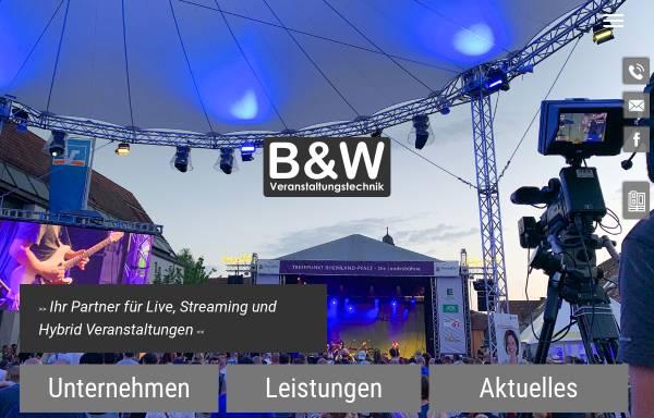 Vorschau von www.bw-kettenheim.de, B&W Ton und Licht GdbR