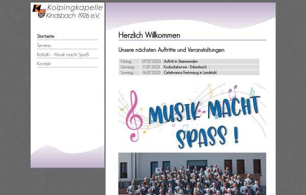 Vorschau von www.kolpingkapelle-kindsbach.de, Kolpingkapelle Kindsbach 1926 e.V.