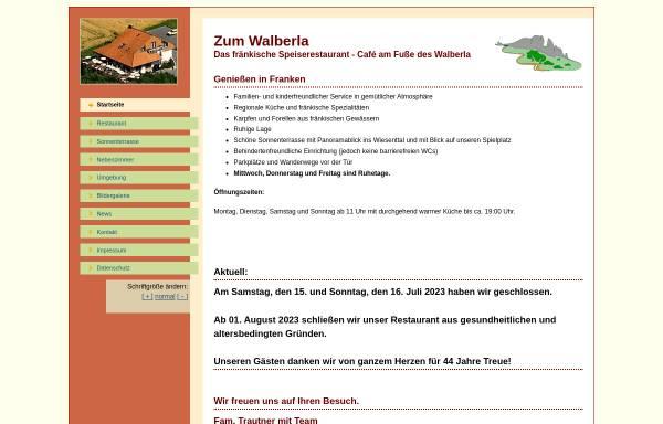 Vorschau von www.zum-walberla.de, Zum Walberla