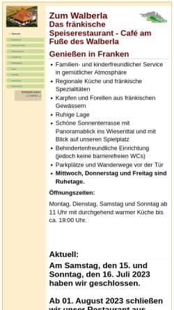 Vorschau der mobilen Webseite www.zum-walberla.de, Zum Walberla